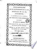 Declaracion de los mandamientos de la ley, artículos de la fe, sacramentos, y ceremonias de la Iglesia