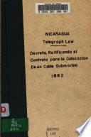Decreto, ratificando el contrato para la colocación de un cable submarino