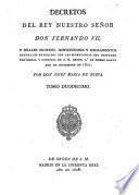 Decretos de la Reina Nuestra Señora Doña Isabel II