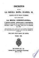 Decretos del Rey Don Fernando VII