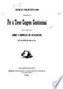 Decretos expedidos ... en los años de 1851/52-