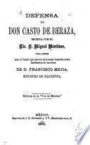 Defensa de don Casto de Beraza