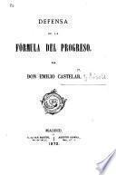 Defensa de la Fórmula del Progreso