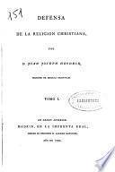 Defensa de la religion christiana