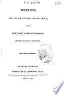 Defensa de la religión cristiana