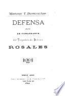 Defensa del ex-Comandante del Torpedero de División Rosales
