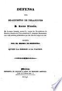 Defensa del ex-Ministro de Relaciones d. Lucas Alaman, en la causa formada contra él y contra los ex-Ministros de Guerra y Justicia del Vice-Presidente d. Anastasio Bustamante