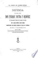 Defensa del Excmo. Señor Don Enrique Sostoa y Ordóñez