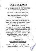 Definiciones de la Congregación Cisterciense de las Coronas de Aragón y Navarra