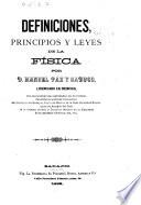 Definiciones, principios y leyes de la física