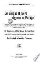 Del antiguo regimen en Portugal