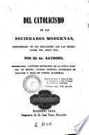 Del catolicismo en las sociedades modernas