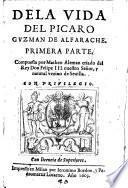 Dela vida del picaro Guzman de Alfarache