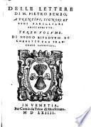 Delle lettere di M. Pietro Bembo