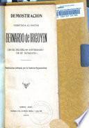 Demostración tributada al Doctor Bernardo de Irigoyen en el día del 80 aniversario de su natalicio