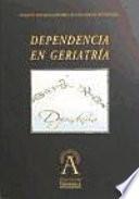 Dependencia en geriatría