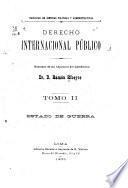 Derecho internacional público: Estado de guerra