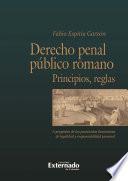 Derecho penal público romano. Principios y reglas