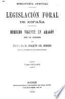Derecho vigente en Aragon