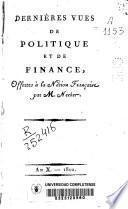 Dernières vues de politique et de finance