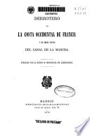 Derrotero de la costa occidental de Francia y de ambas costas del Canal de la Mancha