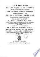 Derrotero de las costas de España en el Océano Atlántico, y de las Islas Azores ó Terceras, para inteligéncia y uso de las cartas esféricas