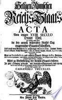 Des Heiligen Römischen Reichs-Staats ACTA