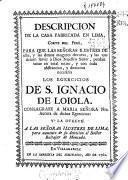 Descripcion de la casa fabricada en Lima, Corte del Perù