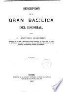 Descripcion de la gran basilica del Escorial