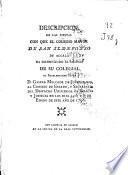 Descripcion de las fiestas con que el Colegio Mayor de San Ildefonso de Alcalá ha solemnizado el ascenso de su colegial ... Gaspar Melchor de Jovellanos ... en los dias 5, 6 y 7 de enero de este año de 1798
