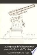 Descripción del Observatorio astronómico n. de Tacubaya
