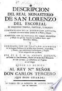Descripción del Réal Monasterio de San Lorenzo del Escorial