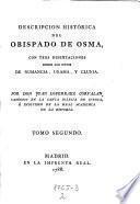 Descripcion histórica del obispado de Osma