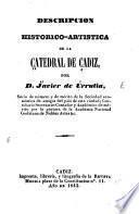 Descripción histórico-artística de la catedral de Cádiz