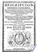 Descripcion historico - panegirica, de las solemnes demonstraciones festivas de la santa iglesia metropolitana