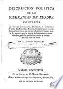 Descripcion politica de las soberanias de Europa