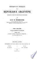 Description physique de la République Argentine