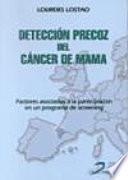Detección precoz del cáncer de mama