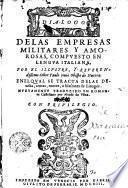 Dialogo de las empresas militares y amorosas
