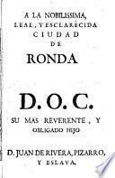 Dialogos de memorias eruditas para la historia de la... Ciudad de Ronda