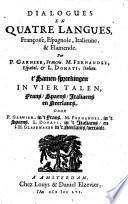 Dialogues en quatre langues, françoise, espagnole, italienne et flamende