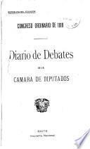 Diario de debates de la Cámara de Diputados