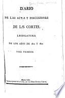 Diario de las actas y discusiones de las Córtes