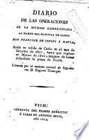 Diario de las operaciones de la división expedicionaria al mando del mariscal de campo don Francisco de Copons y Navia