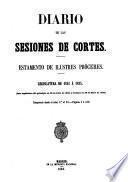 Diario de las sesiones de Cortes. Estamento de Procuradores