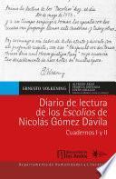 Diario de lectura de los Escolios de Nicolás Gómez Dávila