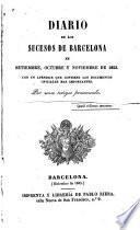 Diario de los sucesos de Barcelona en setiembre, octubre y noviembre de 1843