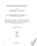 Diario de sesiones de la Asamblea Filipina