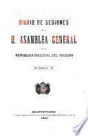 Diario de sesiones de la Asamblea General de la República Oriental del Uruguay