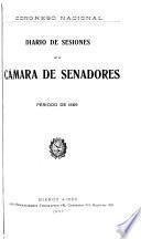 Diario de sesiones de la camara de Senadores